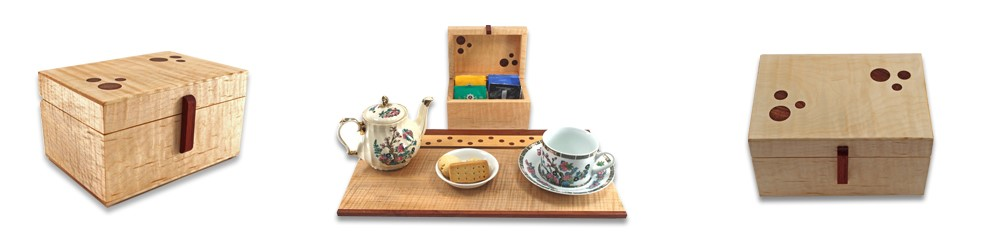 Exotic Wood Tea Caddies by Kathy & Jim Sawada, Toronto, Canada